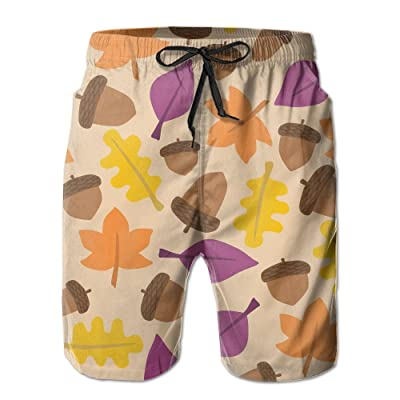 Men's Shorts Swim Beach Trunk Summer Fall Pine Cone Casual Classic Shorts With Pockets