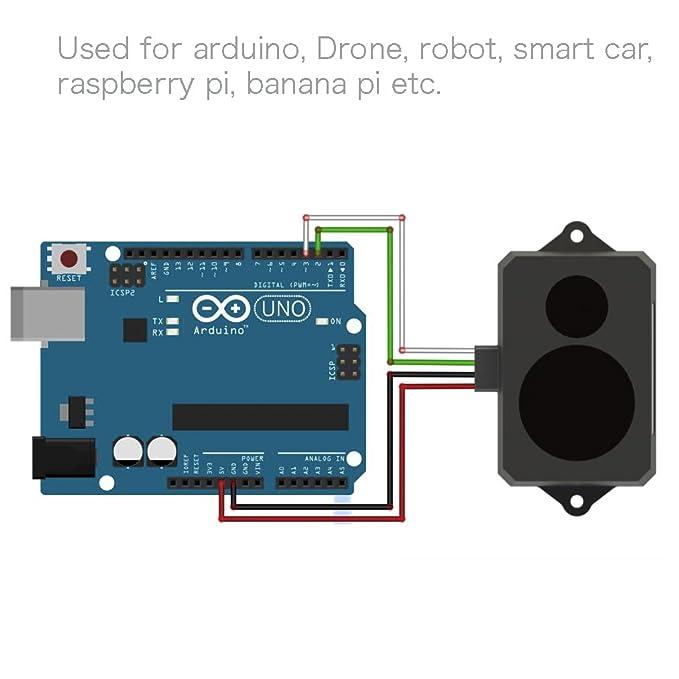 0 3-12m Indoors Lidar Range Finder Sensor Module, TFmini Single-Point Micro  Ranging Module, Lidar Detectors with Cable for Arduino Raspberry Pi