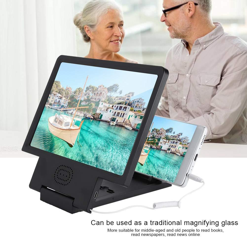 3 Veces Rosa ASHATA Mini Lupa de Pantalla 3D HD Amplificador Screen de Tel/éfono M/óvil con Altavoz Port/átil Universal para Ancianos,Leer Libros,Peri/ódicos,Noticias en L/ínea//Ver Pel/ículas