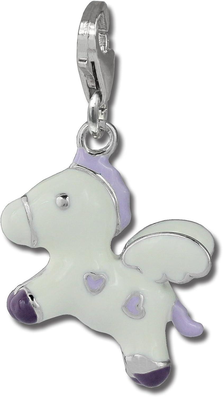 FC869W Charm cheval volant blanc en argent pour charms colliers et bracelets Argent 925 Sterling SilberDream exclusive Charms