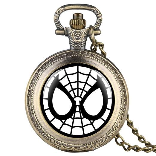 Reloj de Bolsillo de Bronce para niños, Reloj de Bolsillo con patrón de Doraemon para Estudiantes, Reloj de Bolsillo Digital árabe para Adolescentes: ...