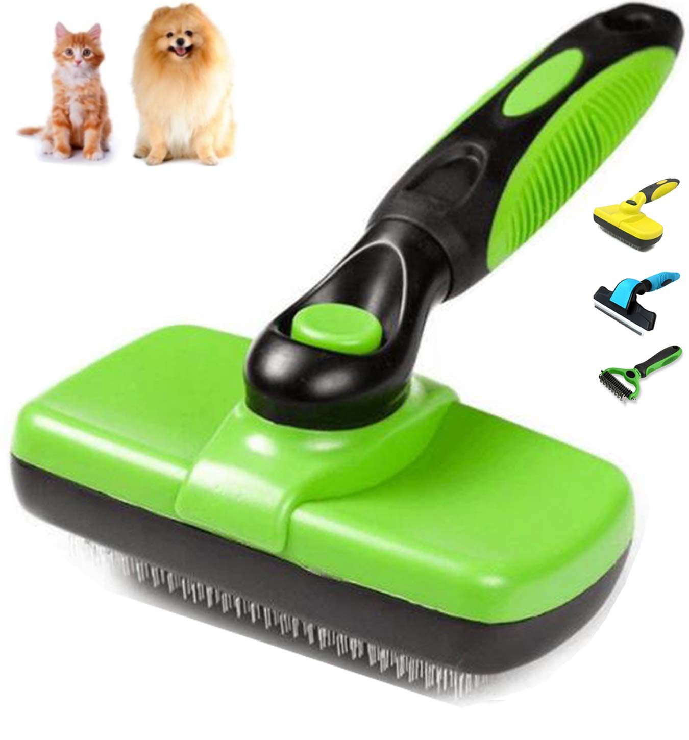 Shedding Tools, Self Cleaning Slicker Brush, Self Cleaning Slicker Brush for Dogs and Cats - Easy to Clean Pet Grooming Brush Removes Mats, Tangles, and Loose Hair- Suitable for Long or Short Hair GAUTERF D9901