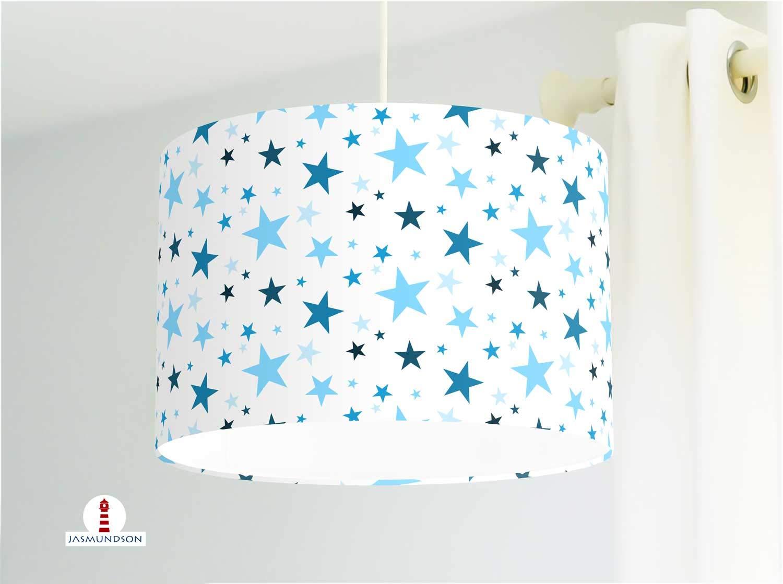 Lámpara de habitación infantil con estrellas en tela de algodón ...