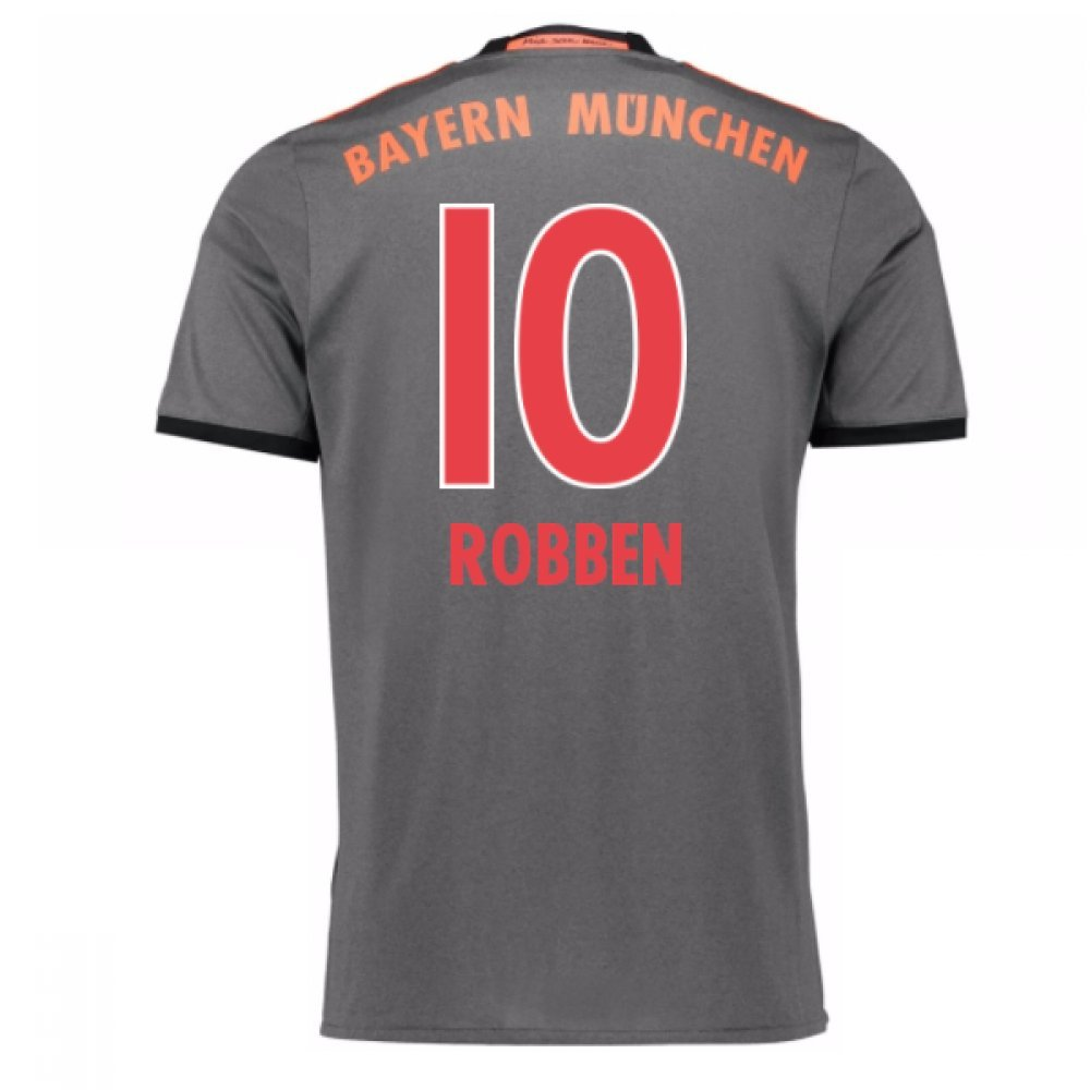 2016-17 Bayern Munich Away Shirt (Robben 10) Kids B077WK9FX6Grey XL Boys 32-34\