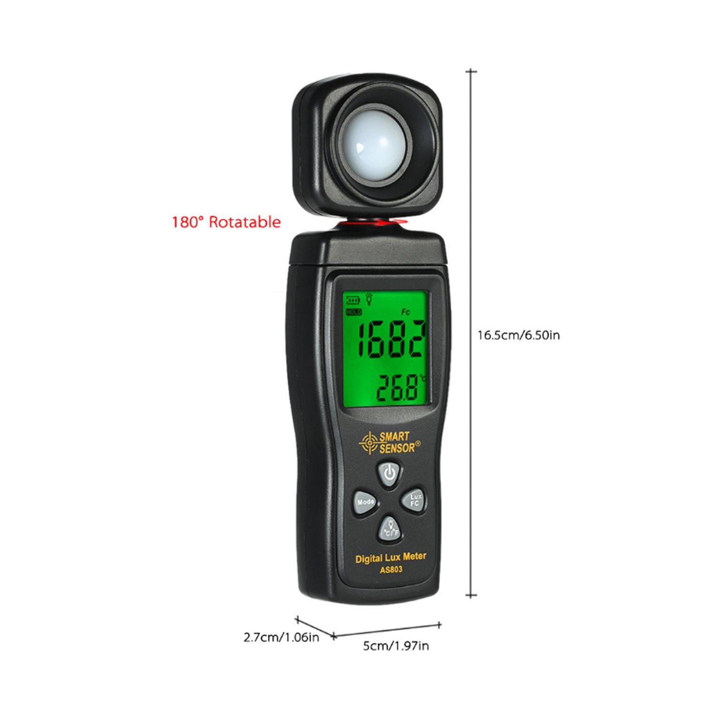 Luminance Tester Digital Lux Meter Light Meter 1-200000 Lux Tools Photometer Spectrometer Actinometer AS803 by WULE-Digital multimeter (Image #2)