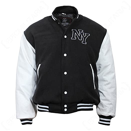 Vintage NY Baseball Jacket: Amazon.co.uk: Clothing