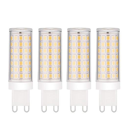 EKSAVE 4-Pack Regulable Estándar G9 Base Ahorro de energía Bombillas LED SES - 8W