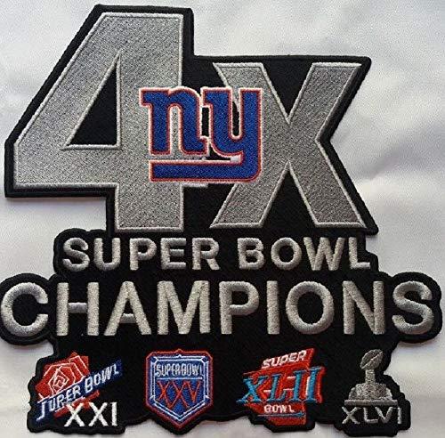 New York Giants Patch XLarge Jacket Style 4X Super Bowl Champ NFL -