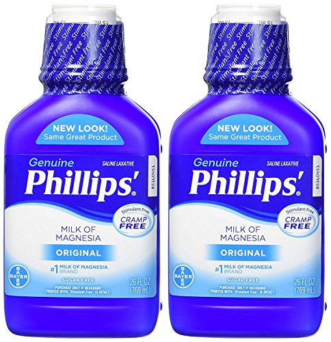 - Phillips' Milk of Magnesia Laxative (Original, 26-Fluid-Ounce Bottle, Pack of 2)