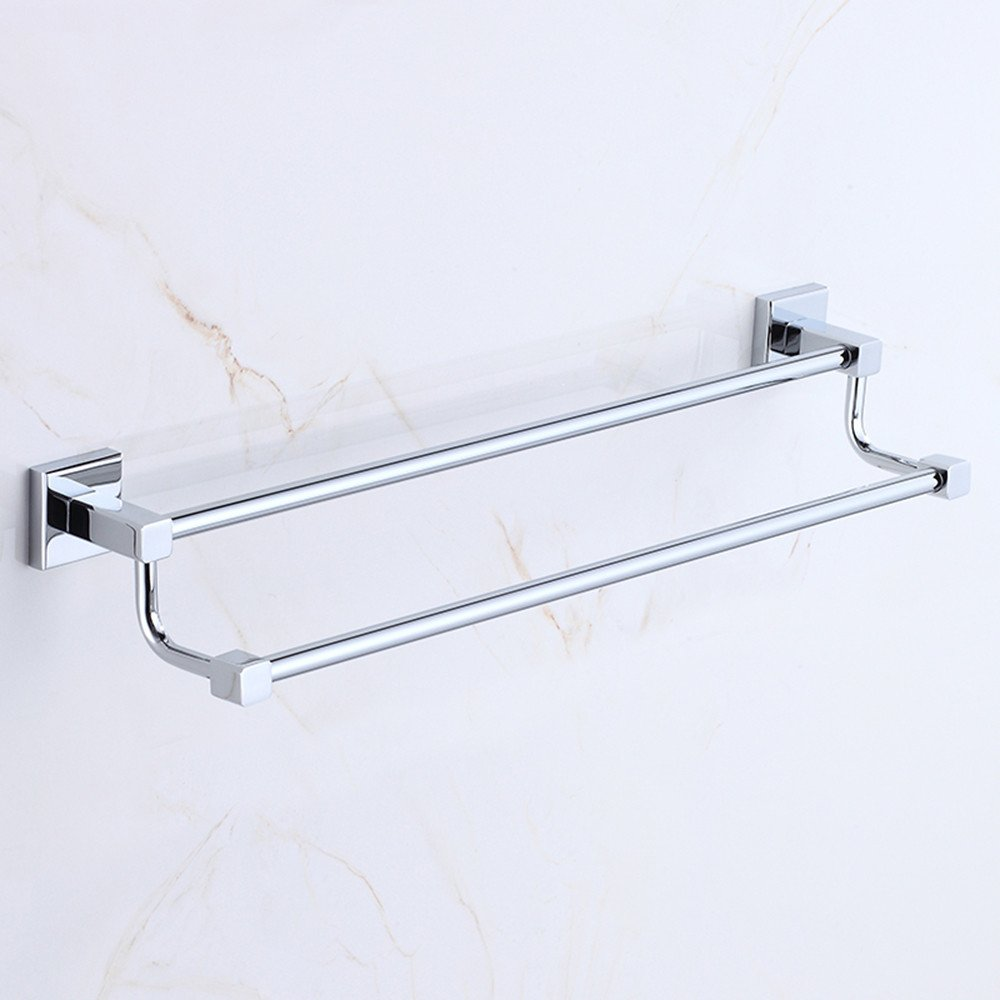 Daadi copper double bar towel rack bathroom towel bar bathroom towel hook extended single lever double bar towel rack 58 Double Bar