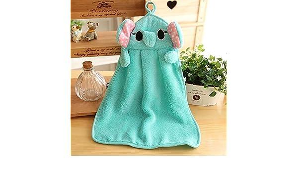 HuaYang Carcasa de bebé para niños suave tela para toallitas húmedas diseño con texto en inglés de baño toalla de mano (azul de animales de la selva): ...