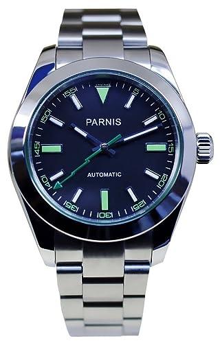 PARNIS 2018 deportivo 39 mm de Hombre Automático Reloj Marca Reloj de pulsera de cristal de zafiro Caja de acero inoxidable 316L y 5 bar impermeable: ...