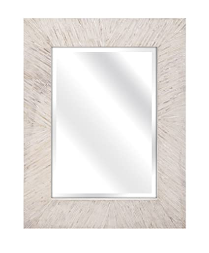 Imax 31141 Embry Mother Of Pearl Mirror   Ornate Wall Mirror For Bathroom,  Living Room