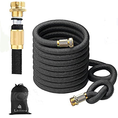 Garden Hose 50FT Expandable Water Hoses with Best Abrasion Resistance and Tension & 5002D Stronger fiber Triple Layer Latex Expandable Garden Hoses for All Your Watering Needs(50)