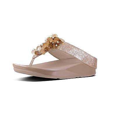 a48af8261eab FitFlop Women s Boogaloo Toe Post Flip Flop Rose Gold 7 ...