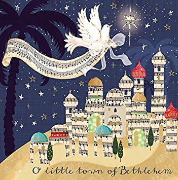 Pack of 5 Bethlehem Traditional Christmas Cards Ling Design Festive Card Packs: Amazon.es: Oficina y papelería