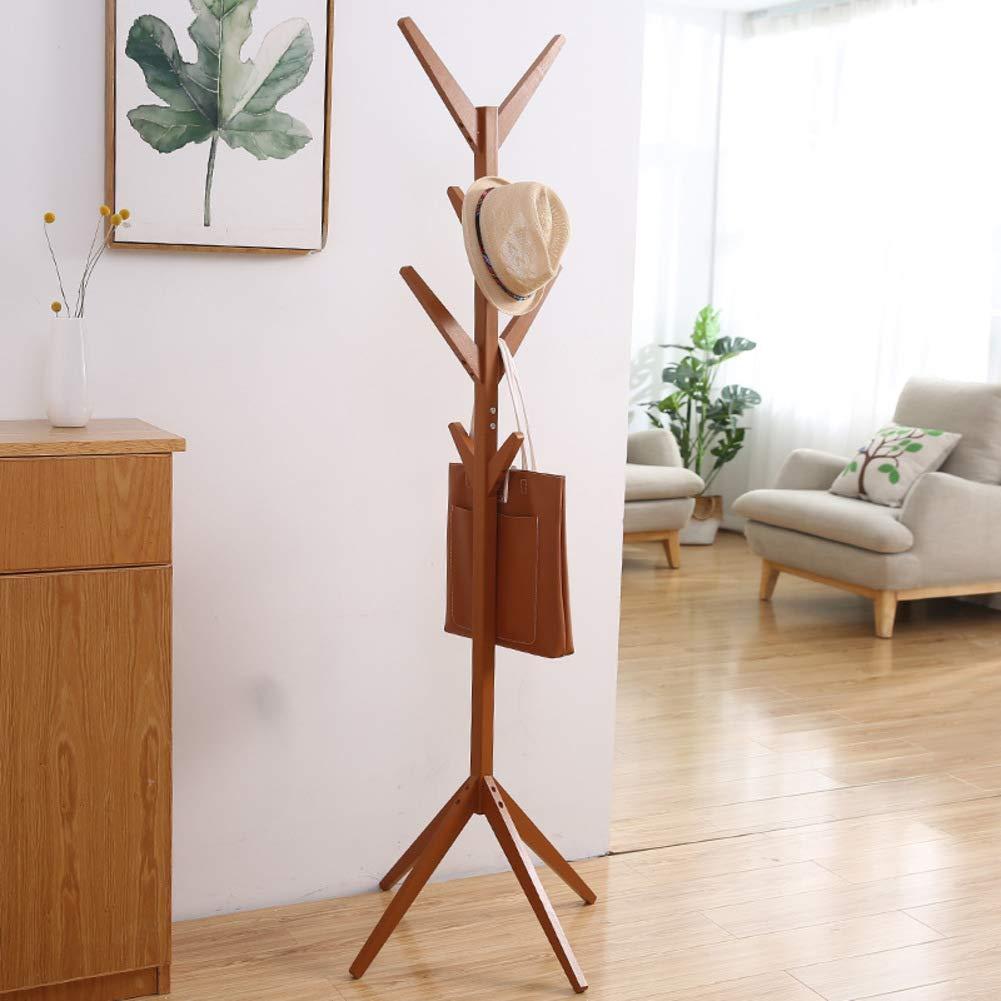 O 45x45x174cm Has Coat Stand Wood Stand Coat Hanger Tree-Shaped Coat Rack Hanger Has Coat Stand for Clothes, Has, Bag-Y 45x45x175cm