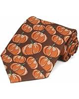 TieMart Men's Pumpkin Themed Necktie