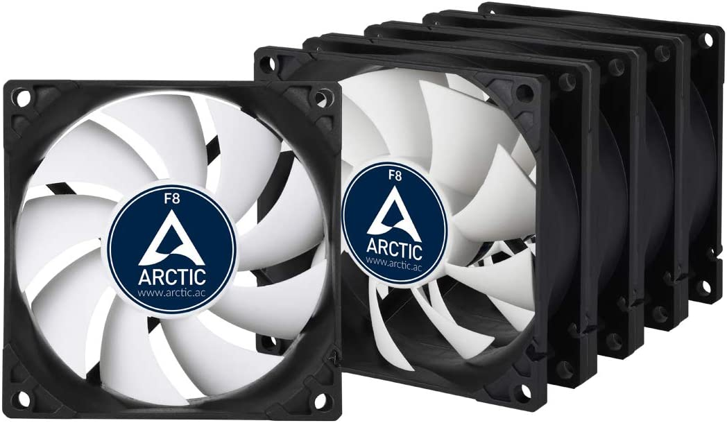 Arctic F8 Value Pack (5 Units) - 80 mm Standard Case Fan | Ultra Low Noise Cooler | Silent Cooler with Standard Case | Push- or Pull Configuration Possible
