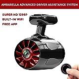 Dash Cam 1S, Jomicam Car Camera : 1296P Super HD Dashboard Camera, Built-In WiFi with APP, 6-Lane Wide-Angle View Lens, G-Sensor, GPS, Loop Recording, Night Mode, Supercapacitors [Upgraded Version]