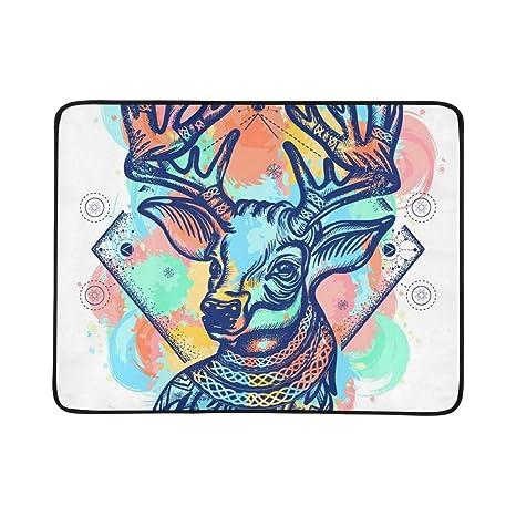 JXCSGBD - Manta portátil y Plegable con diseño de Tatuaje de ...