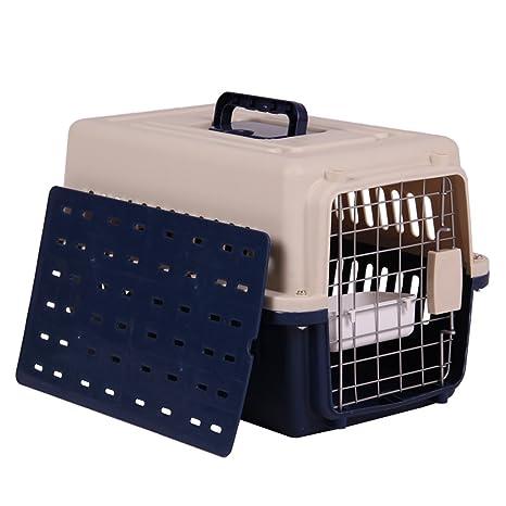 CHONGWFS Elegantes Cajas de Transporte de aviación portátiles para Mascotas Cómodas y duraderas para Mascotas Caja