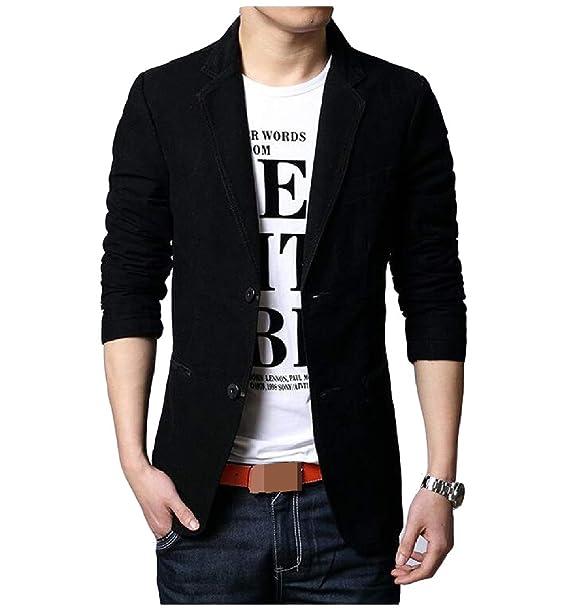 3acf48d91d5e Harwinner Men Slim Casual Blazer Jacket Two Button Sport Coats Suit Jackets:  Amazon.in: Clothing & Accessories