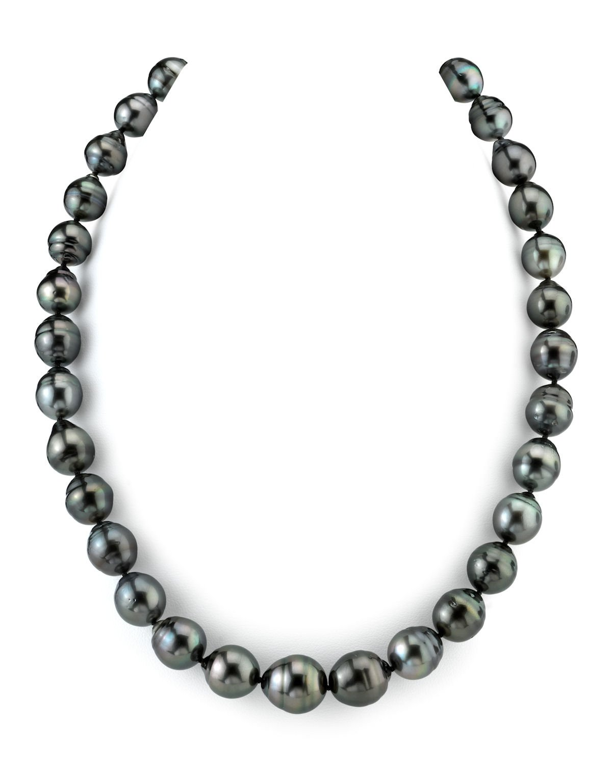 14K Gold 11-12mm Tahitian South Sea Baroque Cultured Pearl Necklace - AAA Quality, 16'' Length