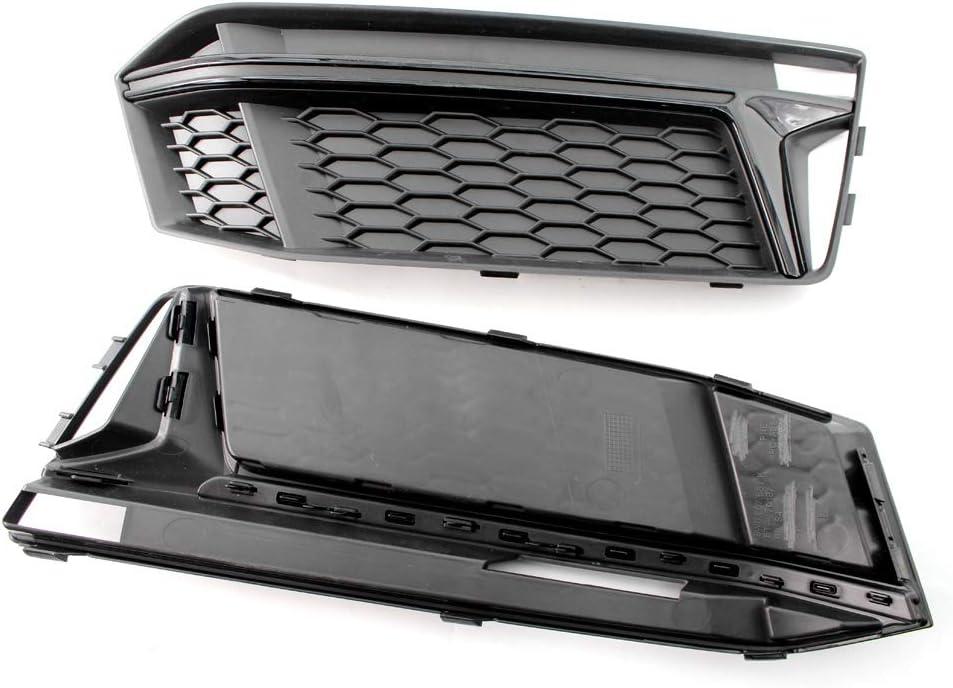 KKmoon Auto Chrom Nebelscheinwerfer Abdeckung Gitter Schwarz Trim Grill l/ünette f/ür Audi a4 s4 s-line b9 2016-18
