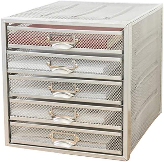 LDD デスクワゴン デスクトップファイルキャビネット、 クリエイティブオフィスの金属製収納ボックス、 5層ファイルキャビネット、 小さなファイル収納ボックス、 事務用品、 家族、 学習、 オフィスなど