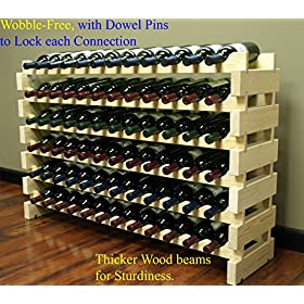 Stackable Modular Wine Rack Stackable Storage Stan...