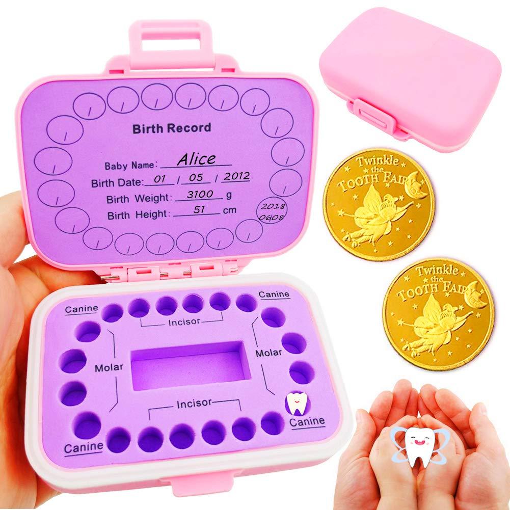 Girl Boys Wooden Baby Tooth Fairy Box Teeth Holder for Kids Lost Teeth Keepsake Save Collection Boy 12x11.5x3cm