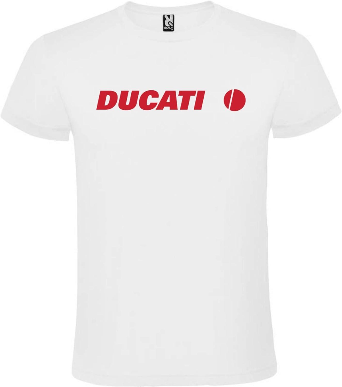 Camiseta Ducati Blanca Hombre Tallas S M L XL XXL XXXL 100% ALGODÓN Mangas Cortas (XL): Amazon.es: Ropa y accesorios