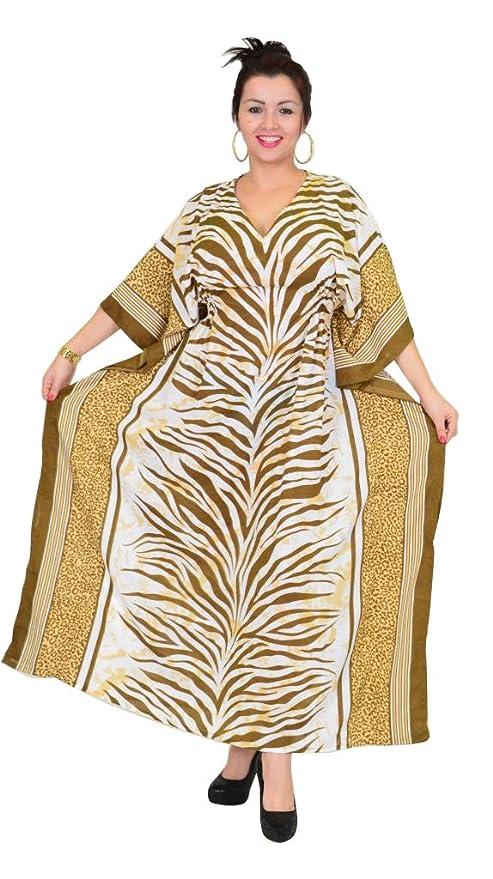 SUNROSE - Vestido - Animal Print - para Mujer Marrón marrón: Amazon.es: Ropa y accesorios