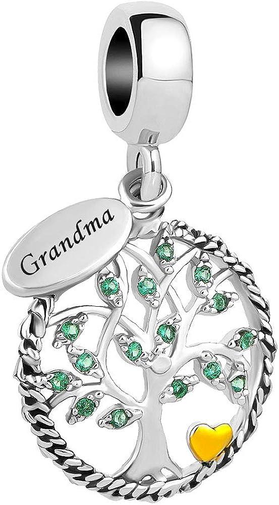 LovelyCharms Family Tree of Life Dangle Charm Bead for Bracelet