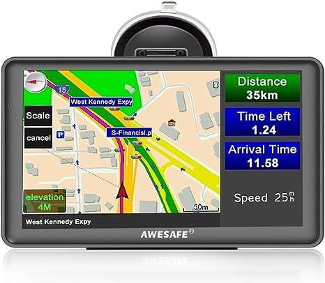 Navegador satelital de 7 pulgadas para coches, Reino Unido, Europa, navegación GPS, incluye códigos postales, cámara de velocidad, alertas POI de por vida, mapas gratis: Amazon.es: Electrónica