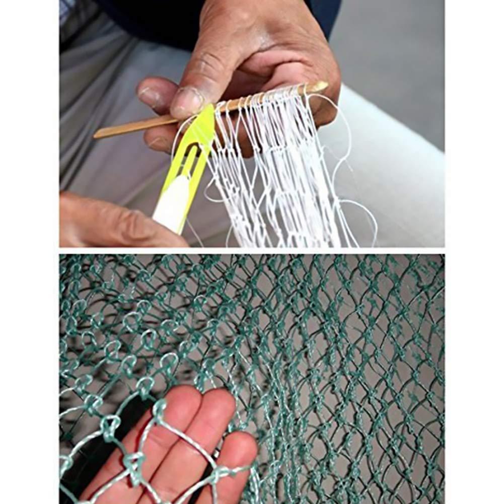 Plastic Fishing Net Repair Needle Fishing Shuttle Bobbin Repair Netting Needle for Fishing Net 10.4 Yellow