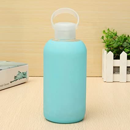 Inovey 500 ML Creativa Botella De Agua De Vidrio Portátil Lindo Tazas De Vidrio Mini Botella
