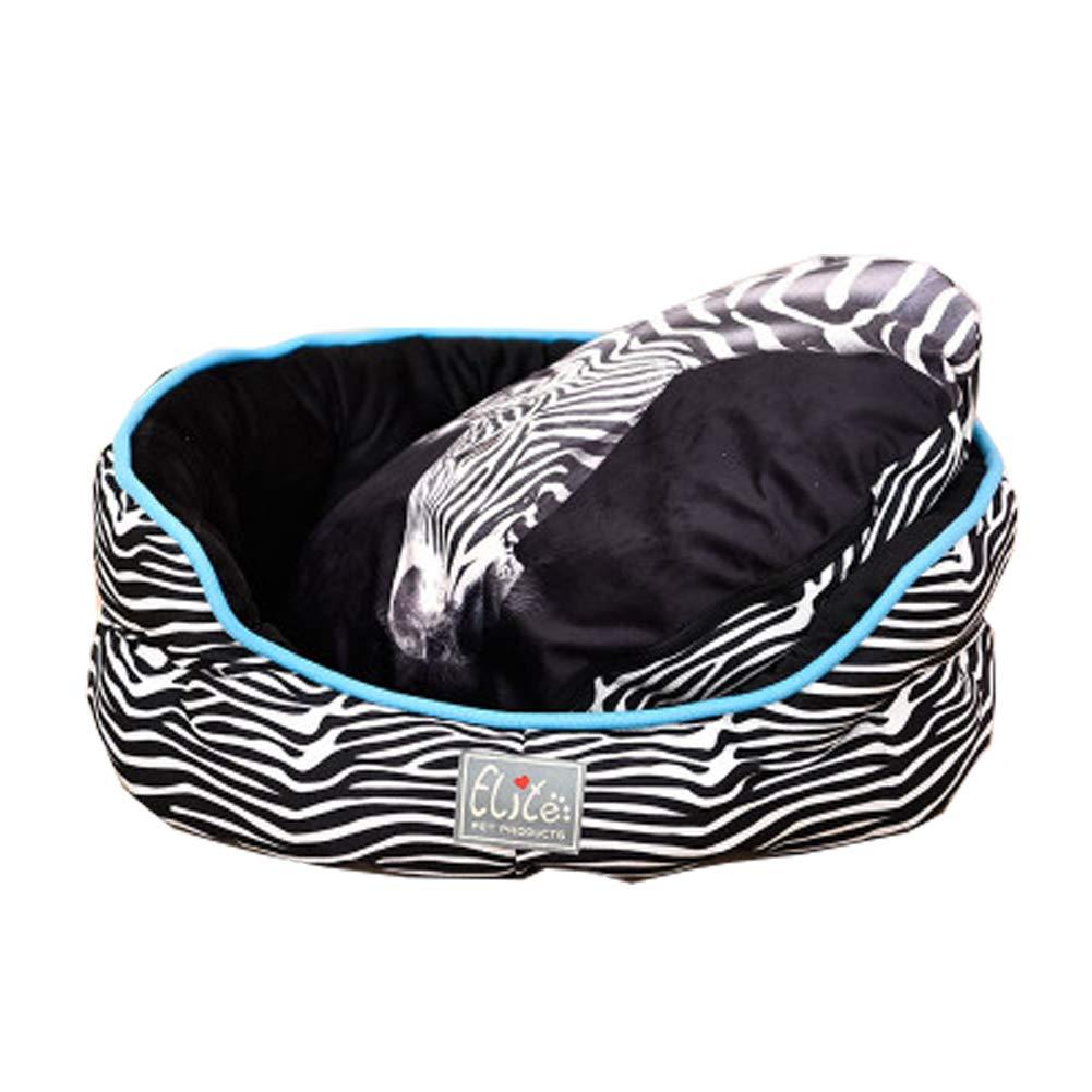 XGPT Soft Pet Bed Cats Dogs Round zebra Design