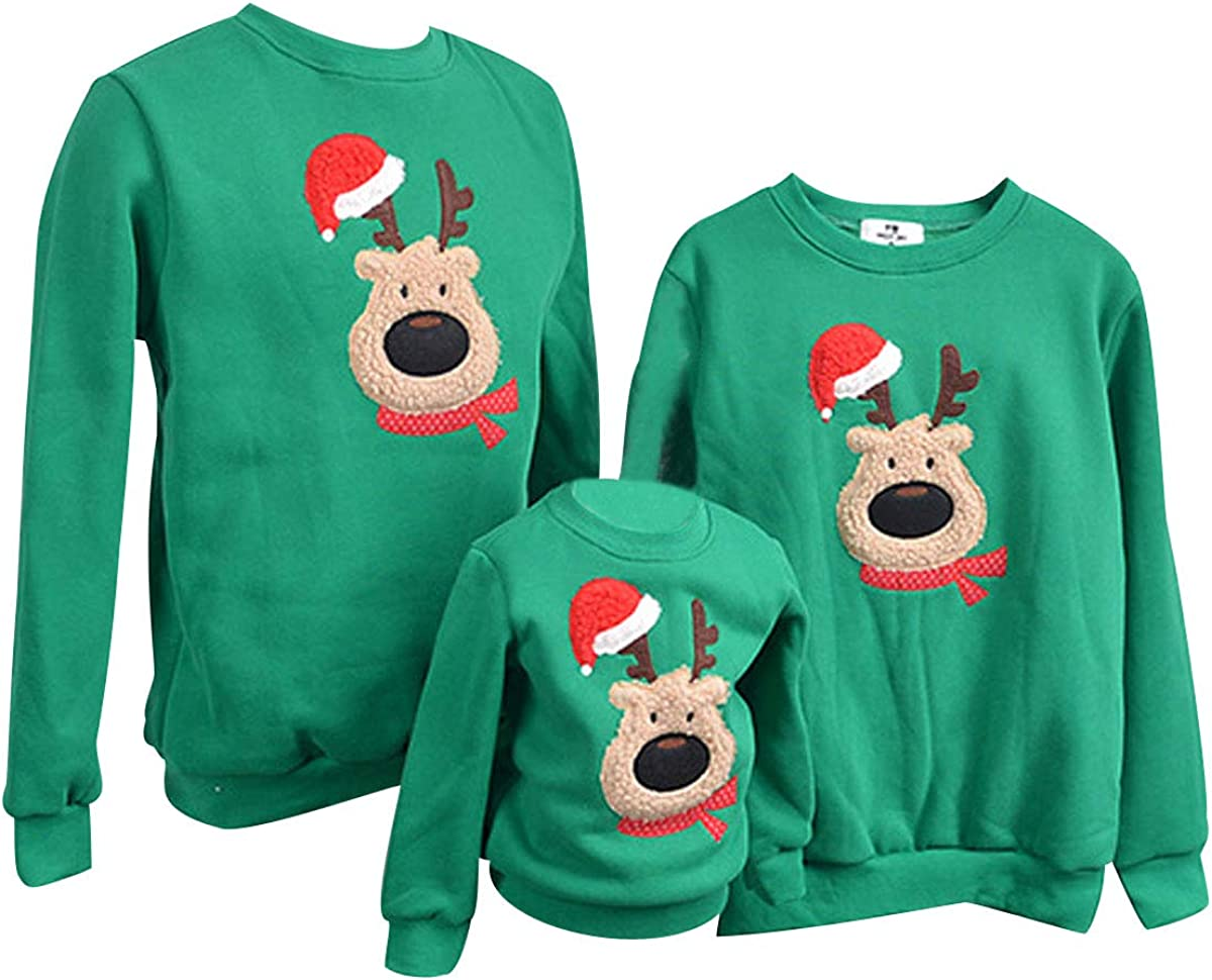 TALLA XL (Busto 112 CM). Sudadera Navidad Jersey Navideño Sudaderas Navideñas Familiares Niño Niña Sueter Hombre Mujer Reno Sweaters Estampadas Pullover Cuello Redondo Largas Chica Chico Invierno Anchas Basicas