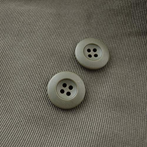 【シンプルデザイン】ミリタリーボタン #CF3 4穴 20mm C/#66 カーキ 10個セット