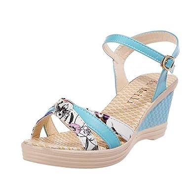 42 Sandalen Damen Blau 37 Sandaletten 39 40 Sommer 41 38