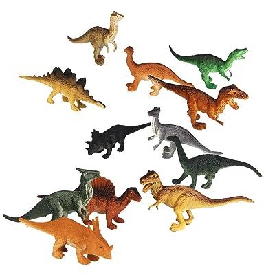 12pcs Juguetes Modelo de Dinosaurios de Plástico Juguetes Plásticos: Juguetes y juegos