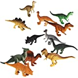 Generic Plastic Reptiles Animal Dinosaur Model Toy 12Pcs Multi-Color