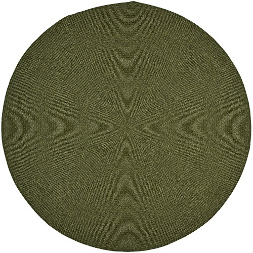 Safavieh Braided Collection BRD315A Hand Woven Green Round Area Rug (6' Diameter) (Green Rug Solid Round)