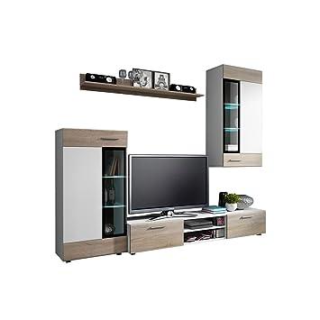 Schon Wohnwand Twist, Design Modernes Wohnzimmer Set, Anbauwand, Schrankwand,  Vitrine, TV Lowboard