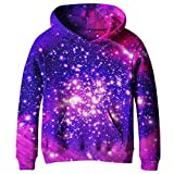 SAYM Big Girls Galaxy Fleece Pockets Sweatshirts Jacket Pullover Hoodies NO1 M