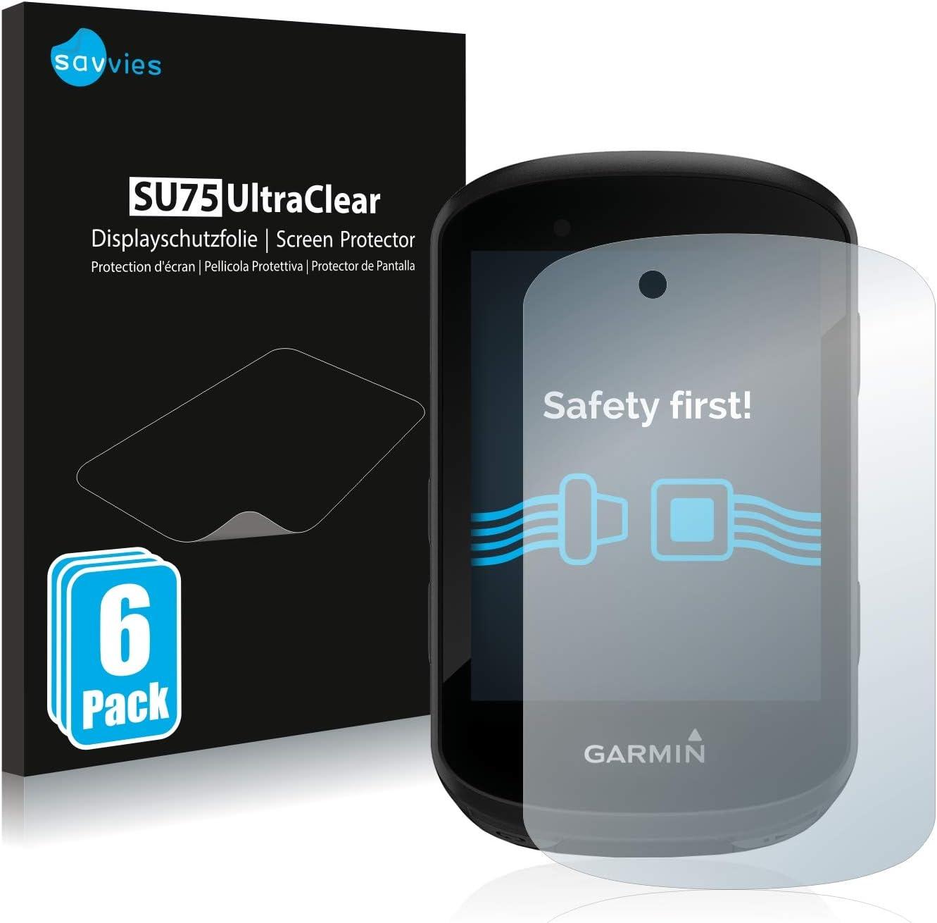savvies Protector Pantalla Compatible con Garmin Edge 530 / Edge 830 (6 Unidades) Pelicula Ultra Transparente