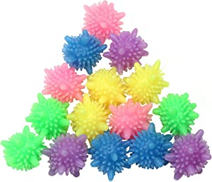 Washer Balls,Reusable Tangle-Free Eco-Friendly Laundry Scrubbing Balls,Solid Colorful Laundry Washing Balls Enhance Your Machine Cleaning Power (15 Pcs)
