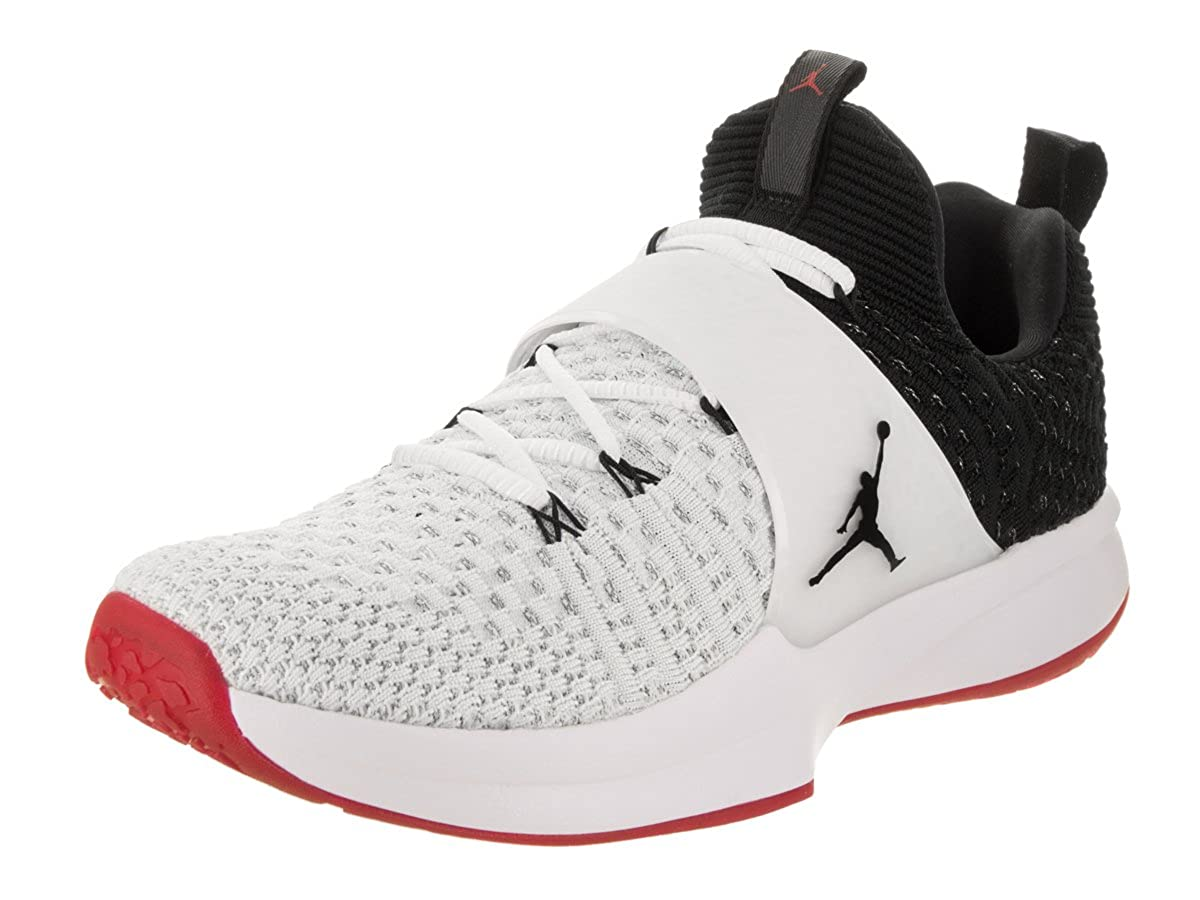 NIKE Jordan Trainer 2 Flyknit Men's Training Shoes (8 D(M) US, WhiteBlack black gym Red)